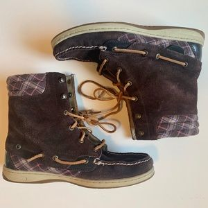 Sperry Hikerfish Suede Lace Up Boots